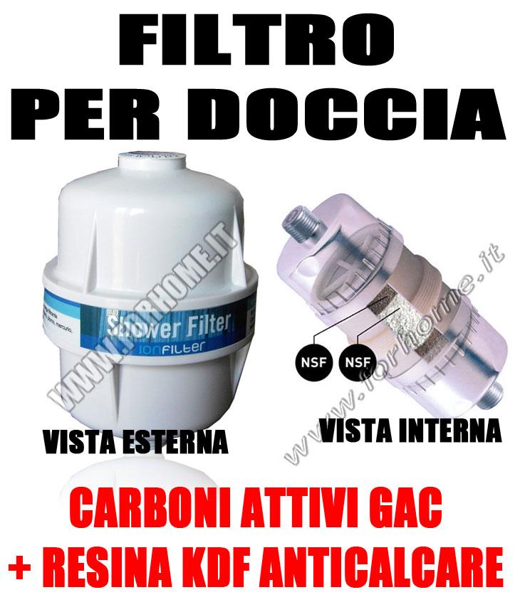 SISTEMA FILTRO ANTICALCARE PER DOCCIA