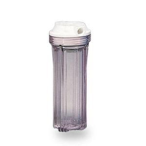 """VESSEL CONTAINER FOR 10 """"IN / OUT SINGLE FILTER 1/4"""" COL. TRANSPARENT"""