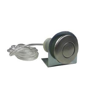 Pulsante pneomatico Accensione/Spegnimento di Ricambio ABS CROMATO per Tritarifiuti Dissipatore ZeroTrash ForHome® compl