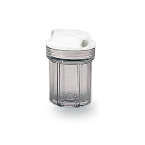 """VESSEL CONTAINER FOR 5 """"IN / OUT SINGLE FILTER 1/4"""" COL. TRANSPARENT"""