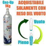 SERVICE CHARGE CO2 1Kg GAS-UP (COMPATIBLE: WasserMaxx SODA SODA STREAM BREEZY HAPPY FRIZZ IMETEC BEGHELLI)