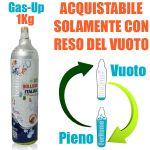 SERVIZIO RICARICA CO2 da 1Kg GAS-UP (COMPATIBILE: WASSERMAXX SODA STREAM SODA BREEZY HAPPY FRIZZ IMETEC BEGHELLI)