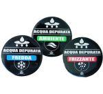 Set 3 Etichette ForHome® Adesive Resinate Acqua Fredda / Frizzante / Ambiente Per Medaglione Colonna Spillatore Cobra