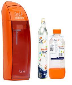 Gasatore Acqua Gas-Up Italia Orange + 1 Bott. Da 1Lt + 1 Bombola Co2 Da 450Gr