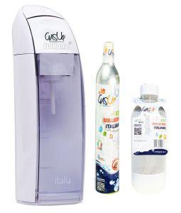 Gasatore Acqua Gas-Up Italia White + 1 Bott. Da 1Lt + 1 Bombola Co2 Da 450Gr
