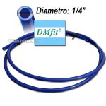 "Tubo Dm Fit 1/4"" Blue - Al Metro"