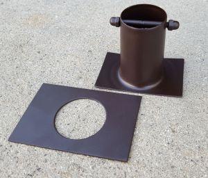 """Collegamento In Alluminio Bronzo ForHome® Per Catena Pioggia A Grondaia H 3"""" Diritto"""