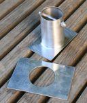 """Collegamento In Alluminio ForHome® Per Catena Pioggia A Grondaia H 3"""" Diritto"""