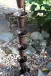 Rain Chain  Aluminum Bronze Cup - fluidibilità 3.5 / 5 - Cross Bell BR - KIT Complete Chain - (19)