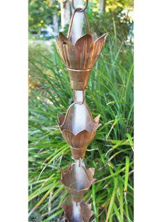 Rain Chain Copper Cup  - fluidibilità 3.5 / 5 - Bluebell Cups - KIT Complete Chain - (16)