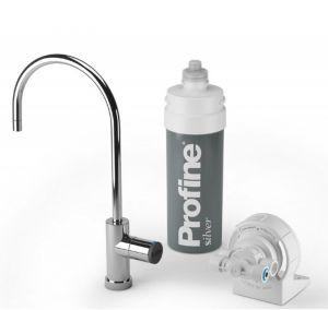 Depuratore Acqua Profine Silver Small Kit Installazione Sotto Lavello Micro Filtrazione 0,5 Micron Antibatterico (or)