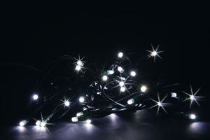 LED Chain 10 mt 100 LUCCIOLONE Maxy Led WHITE COLD with WHITE FLASH - EXTENDABLE - (WITH Power Supply Cable)