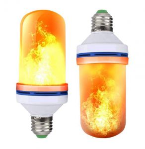Lampadina Led Effetto Fiamma Fuoco ForHome® Flame Light Bulb Fire Effect Per Natale, Halloween E Party - UP+Down Version