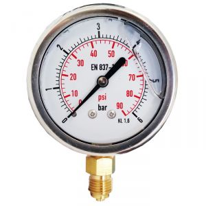 Glycerine Gauge with Stainless Steel Case Scale 0/6 BAR