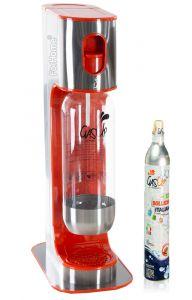 Gasatore Acqua Gas-Up Italia Iron Orange + 1 Bott. Da 1Lt + 1 Bombola Co2 Da 450Gr - Arancio