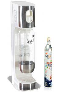 Gasatore Acqua Gas-Up Italia Iron White + 1 Bott. Da 1Lt + 1 Bombola Co2 Da 450Gr - Bianco