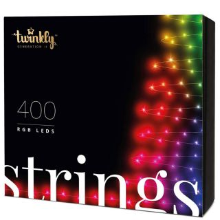 TWINKLY Luci di Natale LED RGB BT+Wifi Controllabili e Personalizzabili con APP SMARTPHONE KIT 400 LED Prolungabili