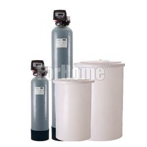"""Addolcitore acqua doppio corpo AUTOTROL 255/760 Logix 1"""" elettronico Rig.Volume-tempo 50 litri resina (OR-DS)"""