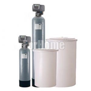 """Addolcitore acqua doppio corpo Fleck 5600 sxt 1"""" elettronico Rig.Volume-tempo 80 litri resina (or-ds)"""