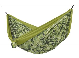 Double Colibri 3.0 Camo Forest Travel Hammock with Fixing Included (ds)