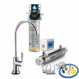 """Depuratore Acqua ForHome® Easy Uv Micro Filtrazione Con Everpure AC2"""" EX SERIE """"2DC"""