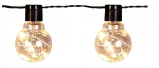 Light Chain 20 Bulb Drops Warm White Led, Garden Party Home Events Wedding Christmas, L 10 mt, Extendable