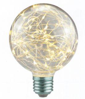 Lampadina con Gocce Led Clear Design attaco E27 , colore Bianco Caldo 1,5W