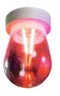 LED Drop Lamp Attack design E27 color Red 2W