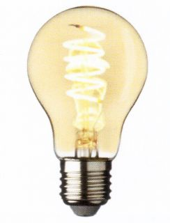 Vintage Design Amber E27 Attack Bulb with 4W Warm White LED Spiral -