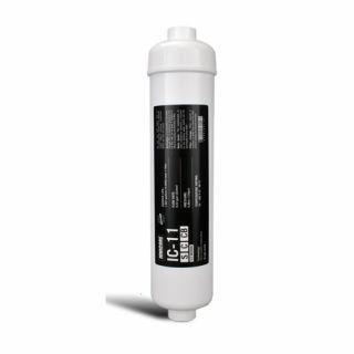"""Filtro in Linea al Carbone Attivo al Cocco battereostatico Ionicore IC-11SCCB  1/4"""" NPT 2,5""""x11"""" - 0,5 micron"""