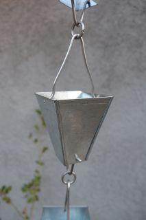 Catena Per Pioggia A Coppa Alluminio Per Grondaia ForHome® - Fluidibilità 3,5/5 - Kit Catena Completa - (11)
