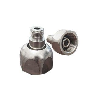 """Adattatore prolunga per riduttore di pressione Co2 per bombole ricaricabili M11x1 a W21.8x1/14"""""""