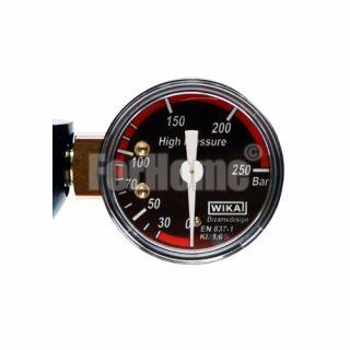 """Manometro Co2 di ricambio Ø40 0-250 Bar BSP 1/8"""" (alta pressione) per cod. 01012007 (or)"""