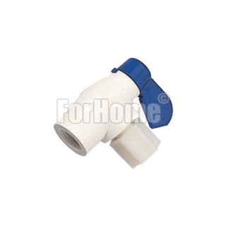"""90 ° angle valve (P.V.C.) for 1/4 """"x 3/8"""" (or) tank"""