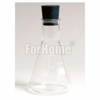 Fiaschetta in vetro 100ml. Erlenmeyer per demo sapone dimostrazione durezza per addolcitore (or)