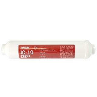 """Filtro in Linea carbon block (CB) al cocco Ionicore IC-10CCB - 1/4"""" FPT 2""""x10"""" - 10 micron"""