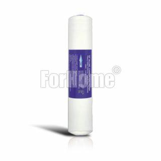 "Filtro in Linea carbon block (CB) 1/4"" FPT 2,5""x12"" - 10 micron (or)"