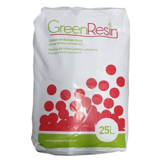 Resina cationica forte per addolcimento Green Resin 1 lit. (25) Monosferica performance (prezzo al lit.)