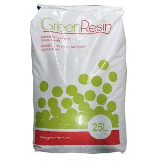 Strong cationic resin bags for softening Green Resin 1 lit.