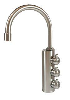 Rubinetto ForHome® 3 Vie Per Acqua Depurata Rubinetto Per Depuratore (colore: Nickel Spazzolato)