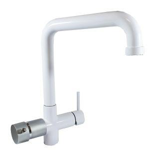 Rubinetto ForHome® 5 Vie Per Refrigeratori Gasatori Acqua Depurata Ambiente/Fredda/Gassata - Calda/Fredda (Bianco)