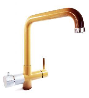 Rubinetto ForHome® 5 Vie Per Refrigeratori Gasatori Acqua Depurata Ambiente/Fredda/Gassata - Calda/Fredda (Terra Francia