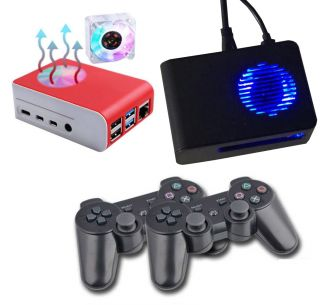 Console Retro Game Arcade RaspBerry PI4 - 2GB Ram RetroPie micro sd 256GB, 2 joystick Wireles,100 Emulatori 18000 Giochi