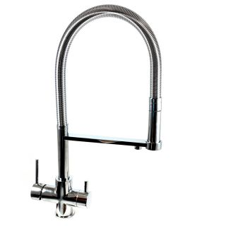 ForHome® 3-Way Spring Shower Tap For Purified Water Tap For Purifier (color: Chrome)
