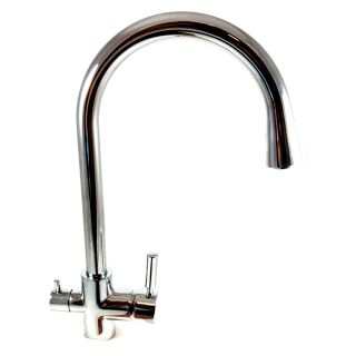 ForHome® 3 Way Tap For Purified Water Tap For Purifier (color: Chrome)