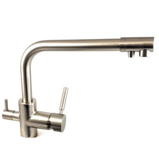 ForHome® 3 Way Tap For Purified Water Tap For Purifier (color: Brushed Nickel)
