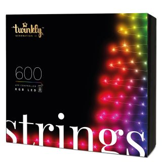 TWINKLY Multicolor RGB LED Christmas Lights Controllable with Customizable SMARTPHONE APP  Starter KIT 600 LED