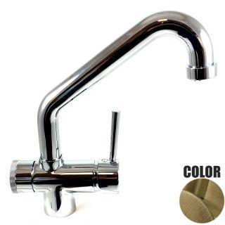 Rubinetto ForHome® 3 PWP Vie Per Acqua Depurata Rubinetto Per Depuratore (colore: Bronzo) 3029-BR (or)