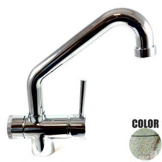 Rubinetto ForHome® 3 PWP Vie Per Acqua Depurata Rubinetto Per Depuratore (colore: Granito Vecchia Pietra) 3029-GP (or)