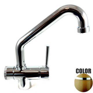 Rubinetto ForHome® 3 PWP Vie Per Acqua Depurata Rubinetto Per Depuratore (colore: Terra di Francia) 3029-TF (or)